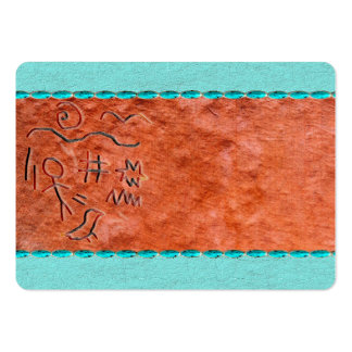Cartões de visitas do nativo americano