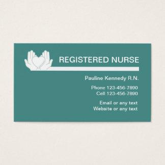 Cartões de visitas do negócio da enfermeira