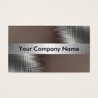 Cartões de visitas do olhar do metal com classe