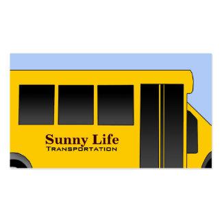 Cartões de visitas do ônibus