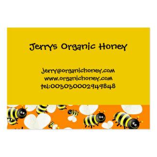 Cartões de visitas do papel de parede da abelha