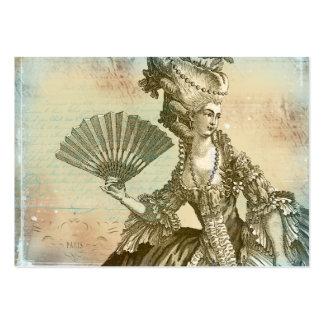 Cartões de visitas do pergaminho de Marie Antoinet