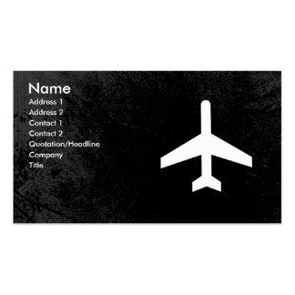 Cartões de visitas do piloto ou dos hospedeiros de