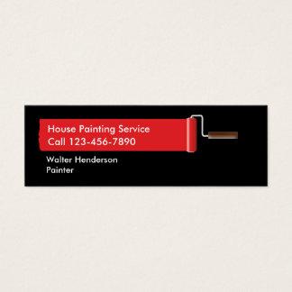 Cartões de visitas do pintor de casa