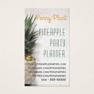 Cartões de visitas do planejador do partido do