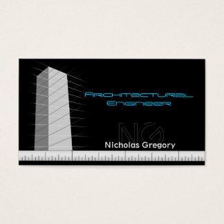Cartões de visitas do preto da engenharia