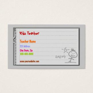 Cartões de visitas do professor