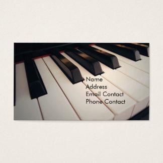 Cartões de visitas do professor de piano