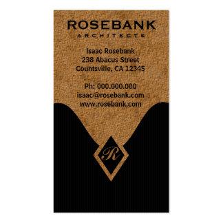 Cartões de visitas do profissional do monograma