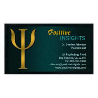 Cartões de visitas do psiquiatria do psicólogo da
