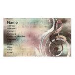 Cartões de visitas do redemoinho da música