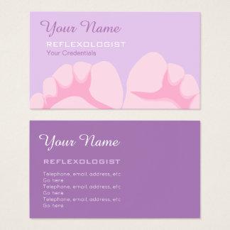 Cartões de visitas do Reflexologist