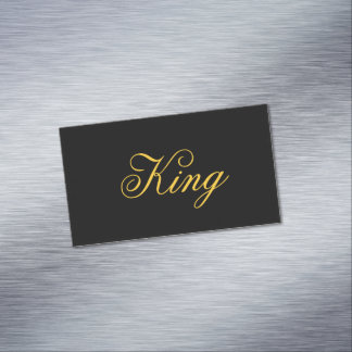 Cartões de visitas do rei Magnético
