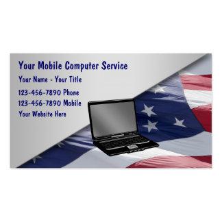 Cartões de visitas do reparo do computador móvel