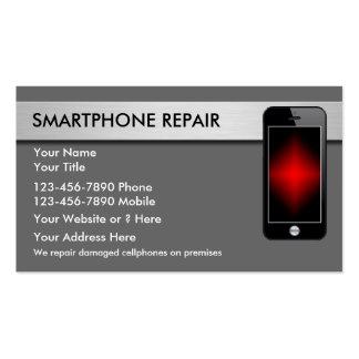 Cartões de visitas do reparo do telefone móvel