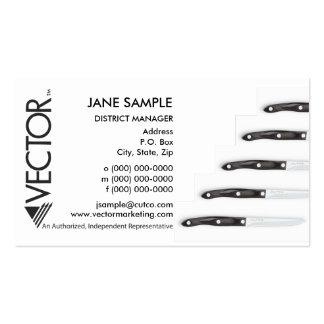 Cartões de visitas do representante do gerente