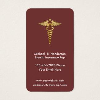 Cartões de visitas do representante do seguro de