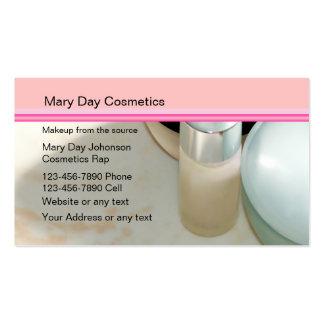 Cartões de visitas do representante dos cosméticos