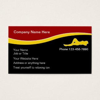 Cartões de visitas do salão de beleza Tanning