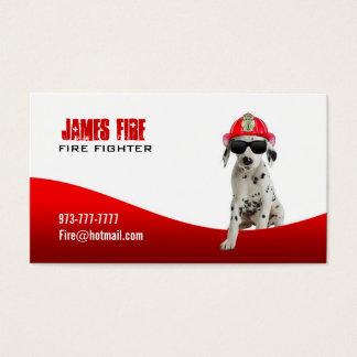 Cartões de visitas do sapador-bombeiro