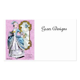 Cartões de visitas do século XVIII do estilo de
