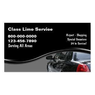 Cartões de visitas do táxi