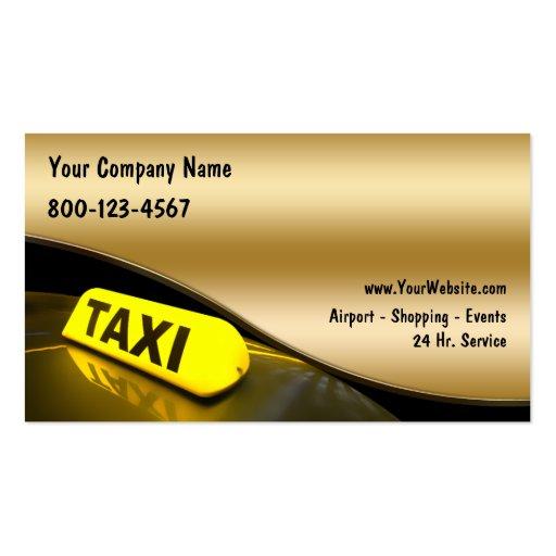 Cartões de visitas do táxi novos