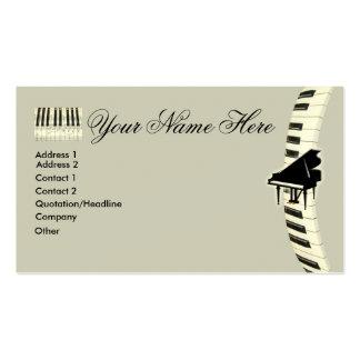 Cartões de visitas do teclado de piano