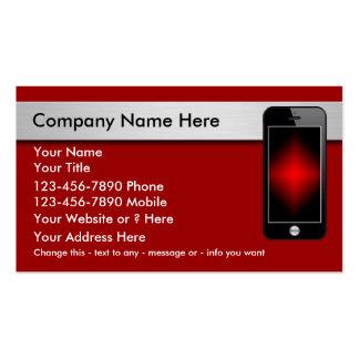 Cartões de visitas do telefone móvel