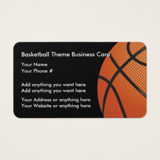 Cartões de visitas do tema do basquetebol