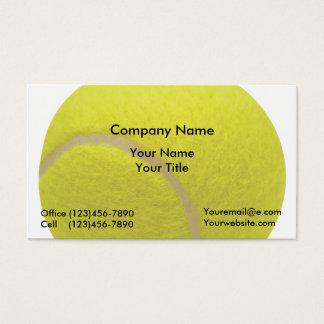 Cartões de visitas do tênis