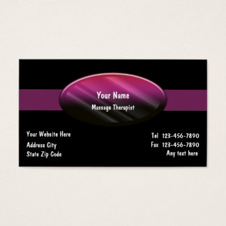 Cartões de visitas do terapeuta da massagem