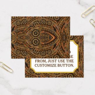 Cartões de visitas do teste padrão do vintage de