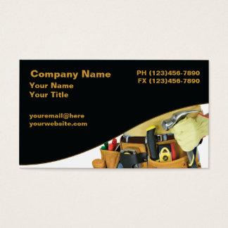 Cartões de visitas do trabalhador manual