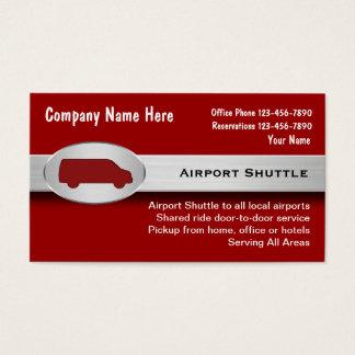 Cartões de visitas do transfer do aeroporto