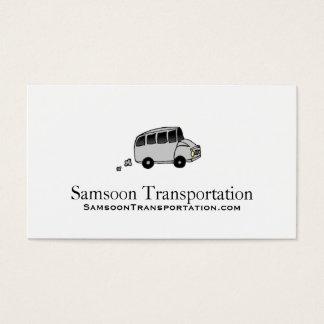 Cartões de visitas do transporte