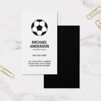 Cartões de visitas do treinador ou do jogador do