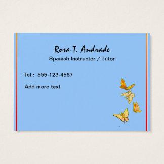 Cartões de visitas do tutoria com calendário