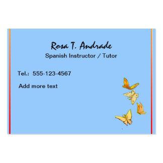 Cartões de visitas do tutoria com calendário espan