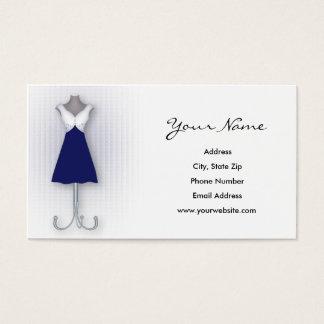 Cartões de visitas do vestido do marinho