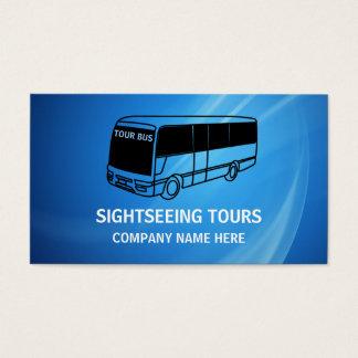 Cartões de visitas do viagem do ônibus