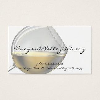 Cartões de visitas do vidro de vinho