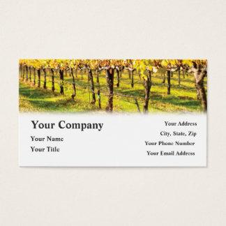 Cartões de visitas do vinhedo do restaurante do