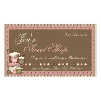 Cartões de visitas Doces cupcakes loja doce