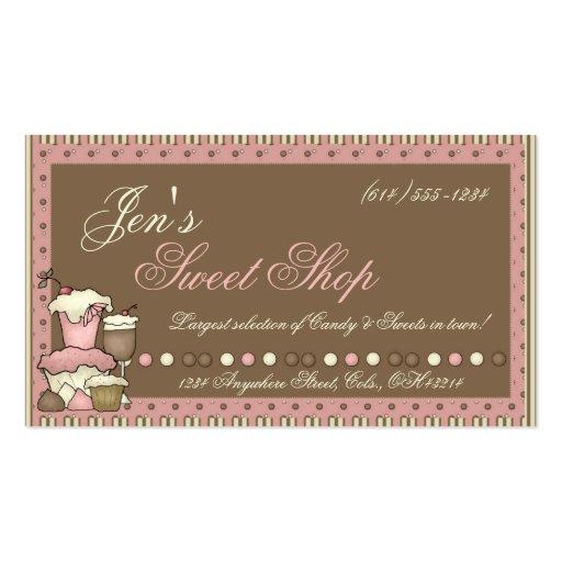 Cartões de visitas:: Doces, cupcakes & loja doce