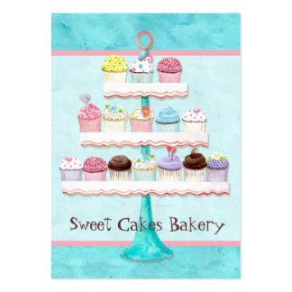 Cartões de visitas doces da loja do cupcake feito