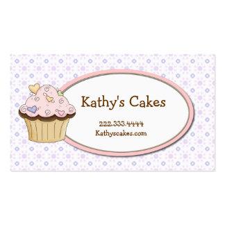 Cartões de visitas doces da padaria do cupcake