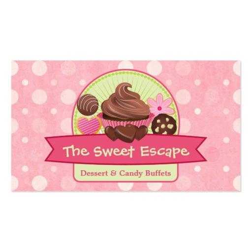 Cartões de visitas doces das sobremesas
