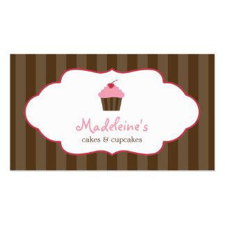 Cartões de visitas doces do cupcake