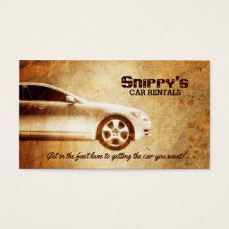 Cartões de visitas dos alugueres de carros